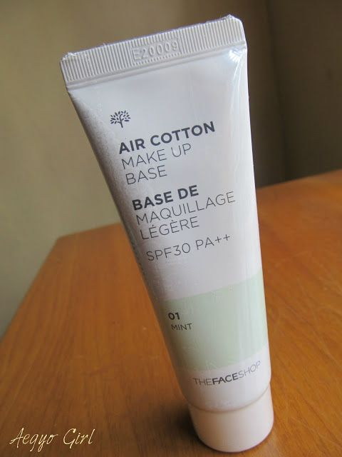 THE FACE SHOP Air Cotton Makeup Base SPF30 PA++ (2 Colors) | YesStyle