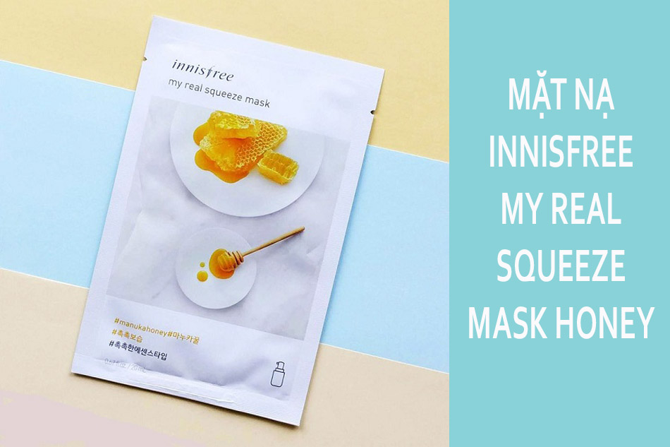 review tất tần tật 18 loại mặt nạ giấy innisfree my real squeeze mask